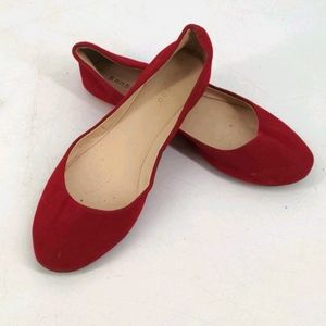 Apple Cherry Red Bamboo Flats Shoes Slip On 10/40